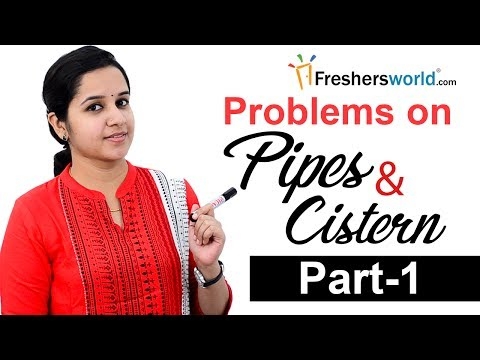 Aptitude Made Easy – Problems on Pipes and Cistern– Part 1, Basics and Methods,Tricks