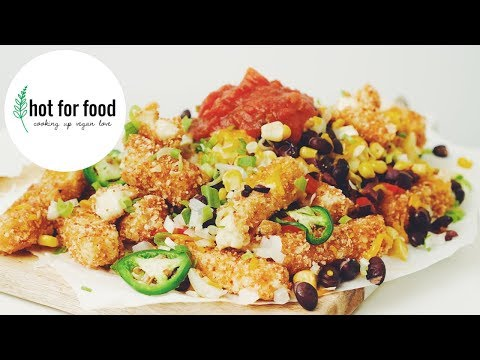 VEGAN MOZZA STICK NACHOS | hot for food