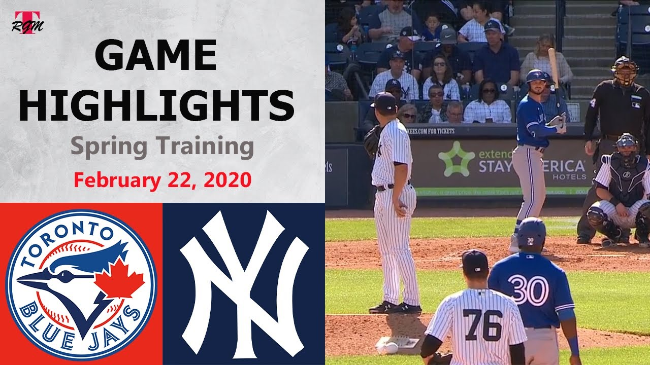 Download Toronto Blue Jays vs. New York Yankees Highlights - February 22, 2020 (Spring Training)