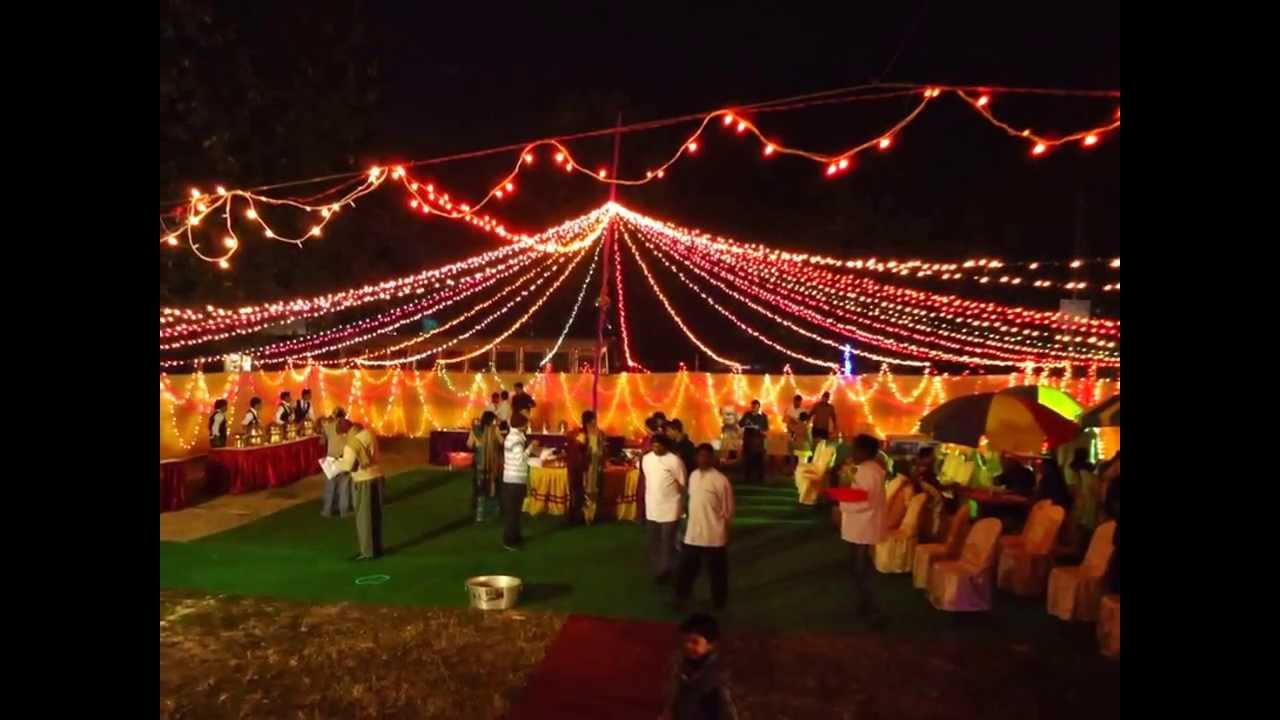 Beautiful Amp Decorated Wedding Reception Pandal In Kolkata