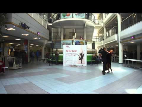 Ballroom and Latin dance display 1 at SHU Fest 2014