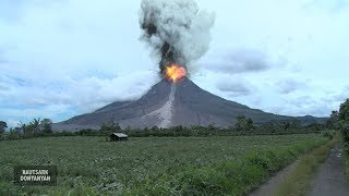 Volcano Eruption - Gunung Sinabung Erupsi - Gunung Berapi