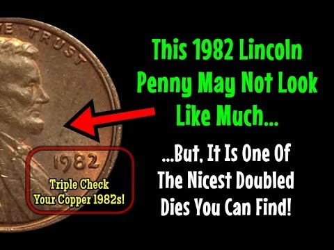 INCREDIBLY SCARCE Doubled Die Variety Surfaces On A 1982 Large Date Lincoln Penny!!