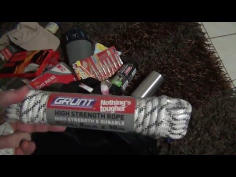 Bug Out Bag Contents from Prepping Australia
