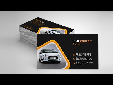 Rent a Car Business Card Design | Photoshop Tutorials thumbnail