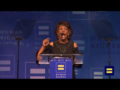 U.S. Representative Maxine Waters Speaks at HRC Los Angeles Dinner