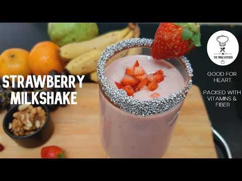 Strawberry Milkshake | Healthy Shake Recipe | The Pinaz Kitchen