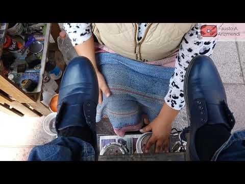 S2E71 Great Female Shoe Shiner Cuautitlan Mexico/Gran Lustradora Cuautitlan Mx ASMR