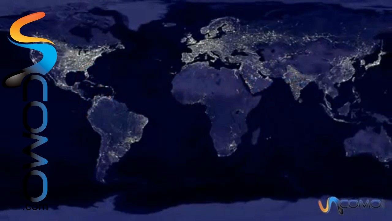 C mo se ve la tierra de noche impactante youtube for De donde sacan el marmol