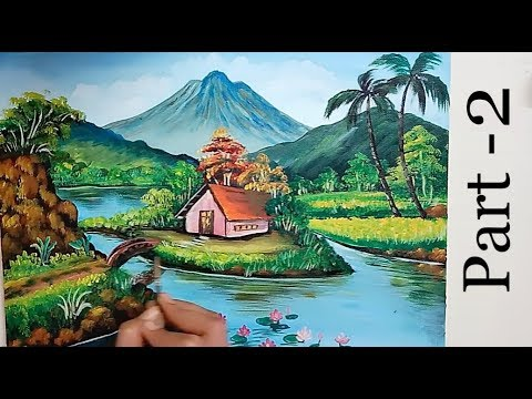 -A Beautiful Scenery Painting Part-2 | Acrylic Painting Tutorial