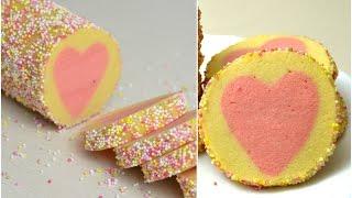 Sugar cookies with  heart shape inside