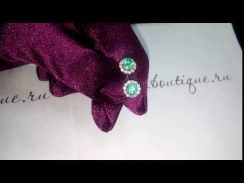 Натуральный изумруд, россыпь бриллиантов - красивым женщина - красивые украшения