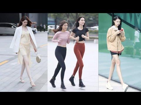 Tik Tok China #36 Pretty Girls Mejores Fashion Walking Style Street Dress Outfit.  抖音時尚網紅街拍合輯。