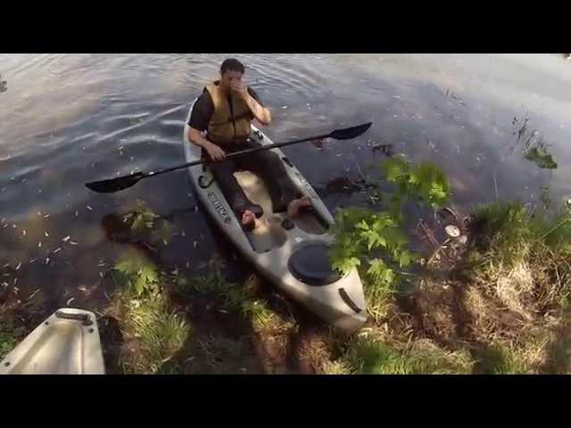 Testing my new heritage angler 10' kayak.