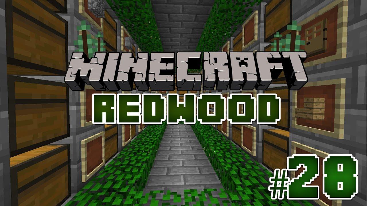 salle des coffres episode 28 serveur redwood minecraft youtube. Black Bedroom Furniture Sets. Home Design Ideas