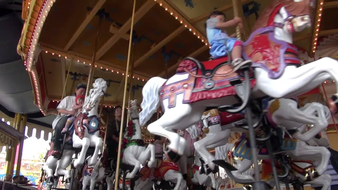 Castle Carrousel In Low Angle Tokyo Disneyland Youtube