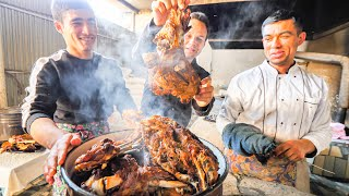 Street Food on the SILK ROAD - INSANE 1000 Person PLOV COOKING in Uzbekistan + TANDOORI MEAT CAVE!!!