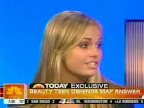 Miss Teen USA 2007 South Carolina Responds on Today show