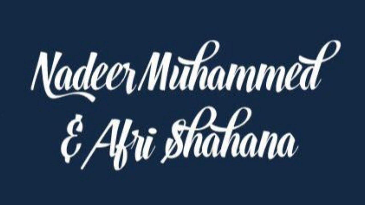 Nadeer Muhammed and Afri Shahana Wedding