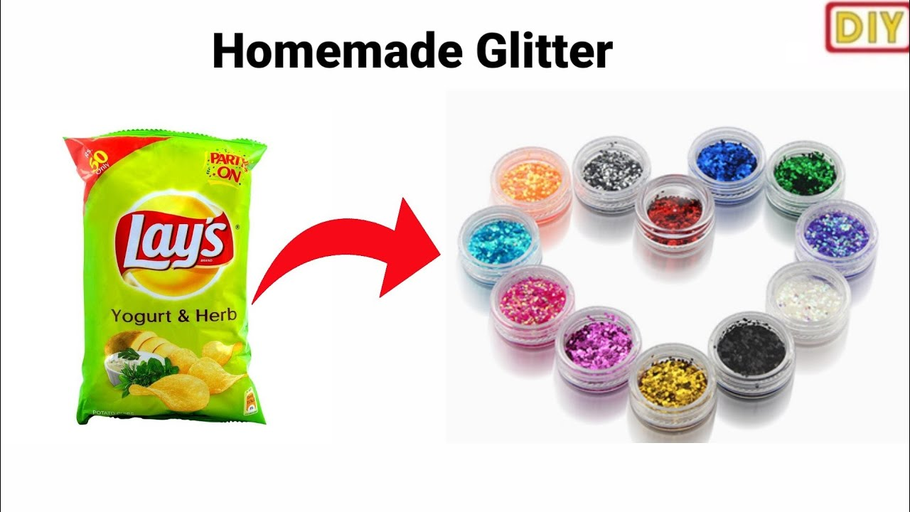 How to make glitter at home /homemade glitter /diy glitter /how to make glitter without salt/#glider
