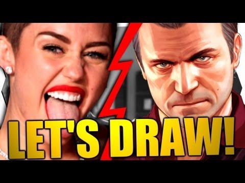 MILEY CYRUS IN GTA 5 (GTA V) ?! - Let's Draw