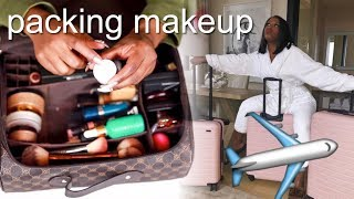 PACK WITH ME! How To Travel With MAKEUP!! | Jackie Aina