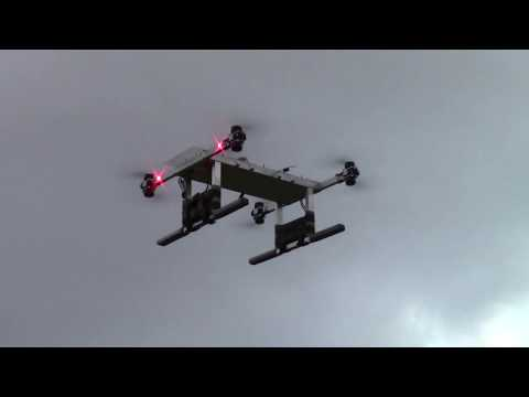 Heavy lift drone test