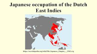Japanese occupation of the Dutch East Indies