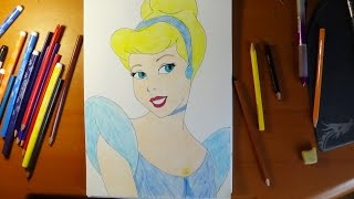 How to draw Cinderella, Cómo dibujar Cenicienta, Как нарисовать Золушку(How to draw cartoon characters, How to draw Cinderella, Cómo dibujar Cenicienta, draw disney princess, disney princesses, Como desenhar Cinderela, ..., 2014-07-31T10:44:10.000Z)