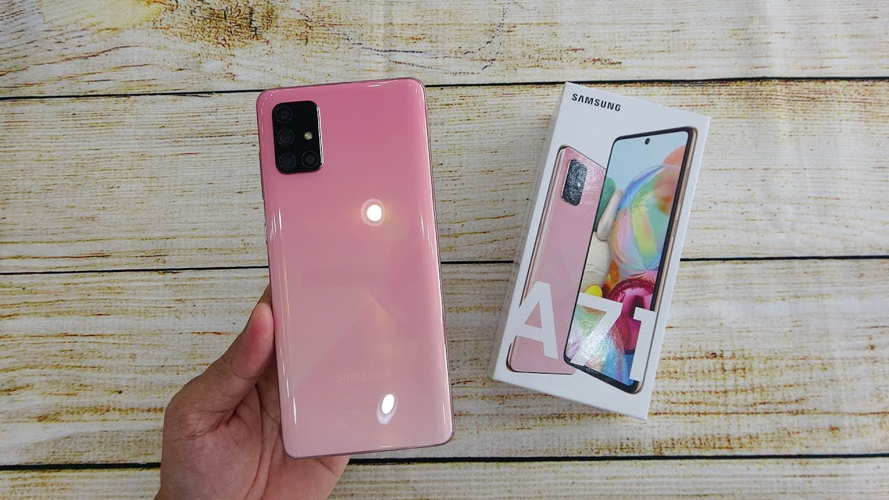 Samsung Galaxy A71 Pink Color Unboxing Youtube