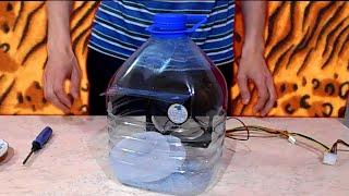 видео Как сделать кондиционер своими руками из вентилятора и бутылки