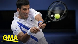 Tennis Star Novak Djokovic Defends Us Open Line Judge L Gma