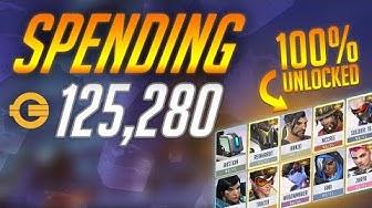 Spending 125,000 Coins in Overwatch [100% Skins/Emotes Unlocked]  || Valkia
