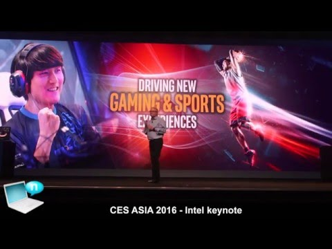 Intel keynote CES Asia 2016 - Curie, Tencent TGP Box, Haier Blade Box, Thunderobot VR with RealSense