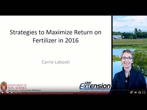 Strategies to maximize return on fertilizer in 2016