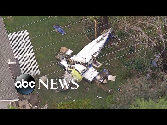 5 killed when small plane crashes into California home