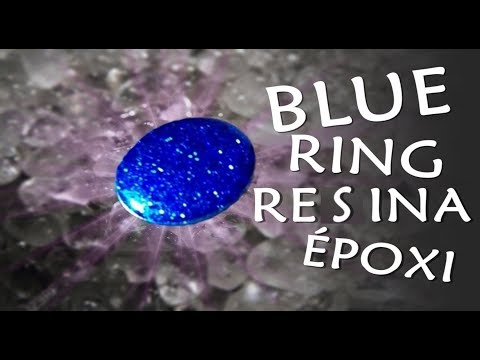 DIY EPOXY RESIN CRYSTAL RING) ANEL CRISTAL DE RESINA EPOXI DIY 💕