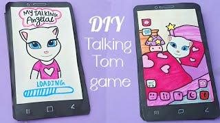 My talking Angela paper quiet book / DIY my talking tom paper game / diy paper game / paper craft screenshot 1