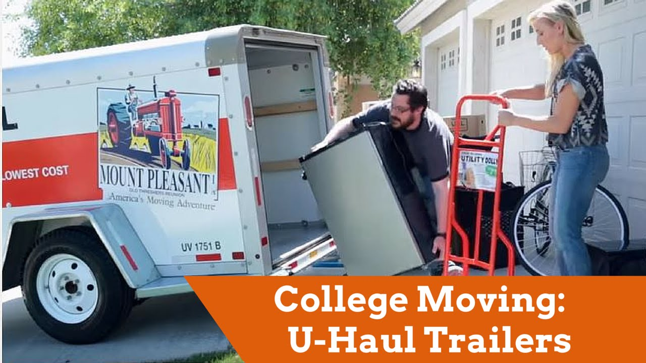U Haul Trailer Sizes >> College Moving U Haul Trailers For Students