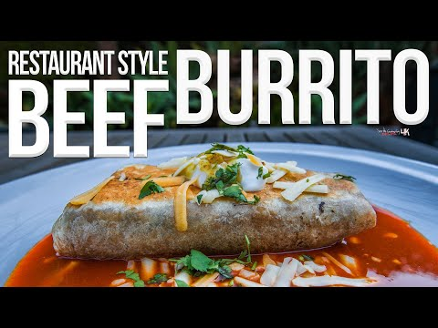 The Best Restaurant Style Beef Burrito | SAM THE COOKING GUY 4K