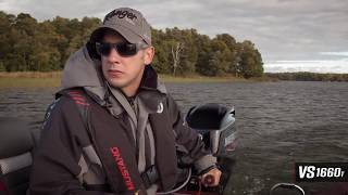 Ranger Aluminum VS1660 Tiller On Water Footage