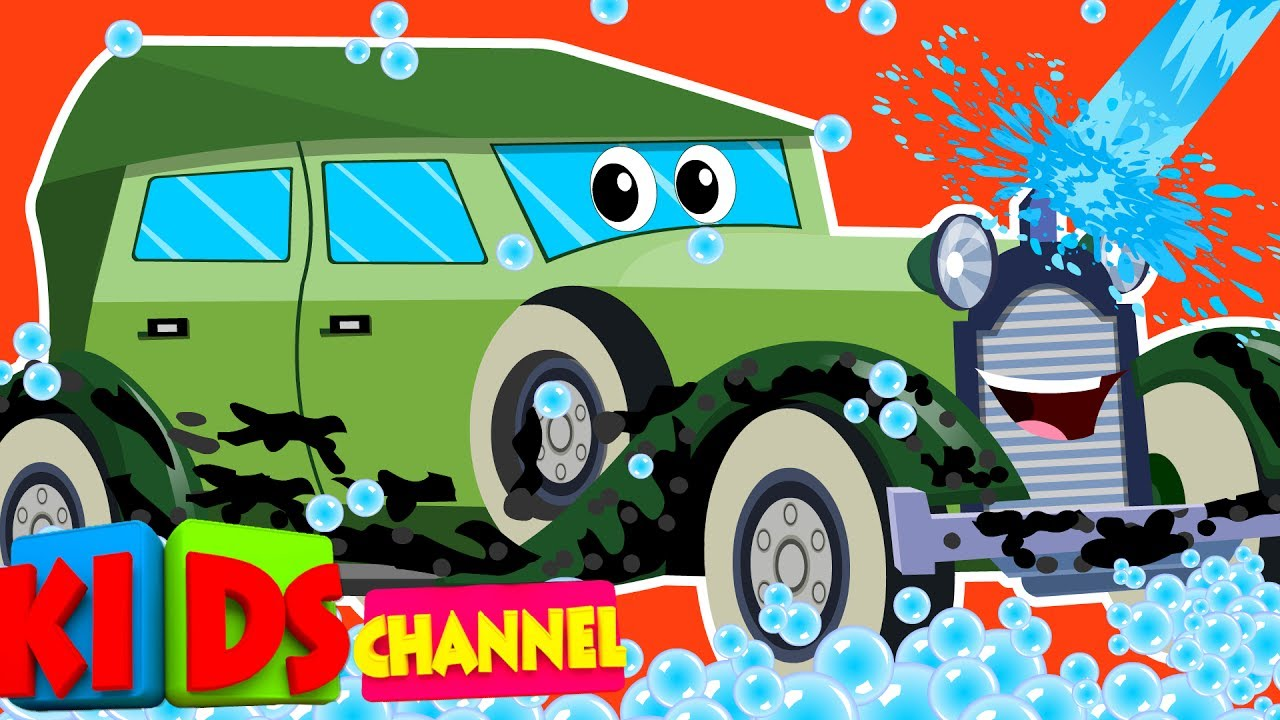 kids channel | vintage car | car wash song | videos for children ...