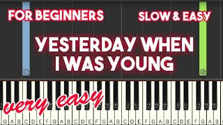 #glencampbell #yesterdaywheniwasyoung #easypianojoin this channel to get access perks:https://www./channel/ucb3xlsnhtvzlt6jmhmodbxq/jointags#pi...