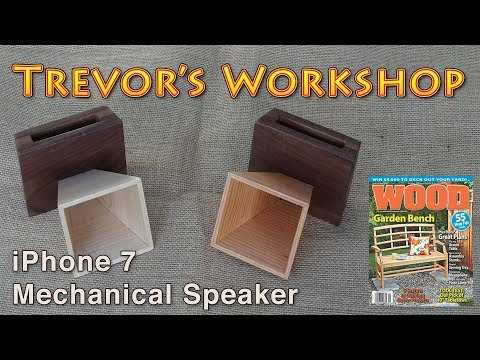 iPhone mechanical speaker + giveaway (Wood Magazine issue 225)
