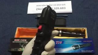 Đèn pin tự vệ T10, 928, LOẠI 1, chiếu xa 1000 M, bảo hành 1 năm.