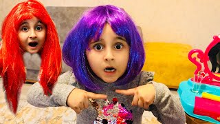 Yaren do hairstyles and dye their hair - funny kids | Beauty Salon & Cute Kids Hair Styles Toys