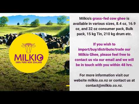 100% Natural New Zealand made Grass Fed Cow Ghee | GRASS-FED COW GHEE | Milkio Foods New Zealand