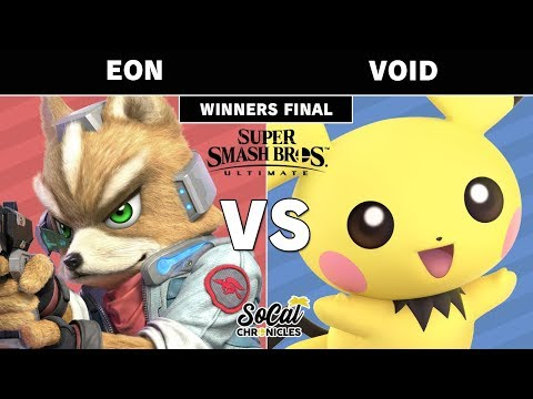 Smash Ultimate Tournament - CLG | VoiD (Pichu) vs Eon (Fox) Winners Finals Top 8 - Socal Chronicles