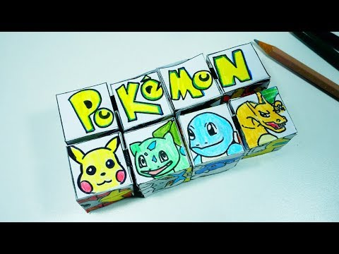 Diy Paper Magic Cube Transformer Pokemon l Pokemon paper cube transformer l 5-minute crafts for kids