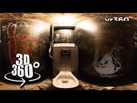 Klo / Bathroom @ Golden Gate Club Berlin | Traditional Berlin in 360° 3D S01E02 | vr360bln